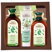 Green Pharmacy Normal Hair Hair Shampoo + Hair Conditioner + Hand Cream + Balm Cosmetic Set