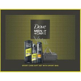 Dove Men + Care Sport shower gel for men 400 ml + antiperspirant spray 150 ml + hair shampoo 250 ml + cosmetic bag, cosmetic set