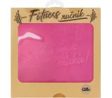 Albi Fitness towel Smart, beautiful pink 90 x 50 cm