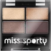 Miss Sporty Studio Colour Quattro Eye Shadow oční stíny 403 Smoky Brown Eyes 3,2 g