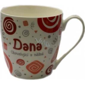Nekupto Twister mug named Dana red 0.4 liter
