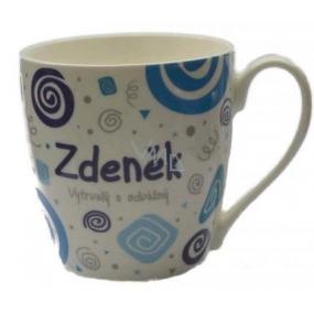 Nekupto Twister mug named Zdenek blue 0.4 liter