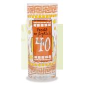 Nekupto Birthday glass Simply the best 40 12 cm