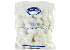 Athena Beauté vatové chomáčky bílé 200 kusů