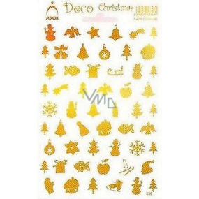 Arch Holographic decorative stickers Christmas different motives gold
