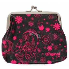 Albi Original Portmonka for clip Pink Flowers 12 x 9.5 x 1.5 cm
