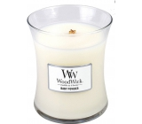 WoodWick Baby Powder - Baby Powder Scented Candle with Wooden Wick and Glass Medium Lid 275 g