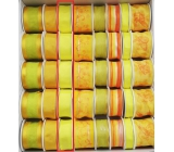 Ditipo Fabric ribbon with wire yellow neon 3 mx 25 mm
