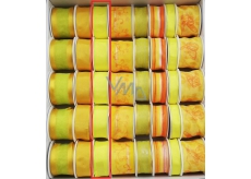 Ditipo Ribbon fabric with wire 3 mx 25 mm yellow neon