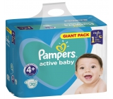 Pampers Giant Pack Active Baby Maxi 4+ 10-15 kg disposable diapers 70 pieces