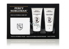 Percy Nobleman Face and Beard Cleansing Gel 75 ml + Face & Beard Moisturizing Cream 75ml + Cotton Towel