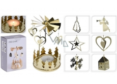 Angel ring on a tea candle gold 65 x 160 mm