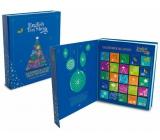 Česky Tea Shop Bio Advent Calendar in the shape of a book blue, 25 pyramids of loose teas, 13 flavors, gift set