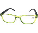 Berkeley Reading Prescription Glasses +1.0 plastic transparent green, black sides 1 piece MC2166