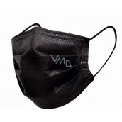 Veil 3 layers protective medical non-woven disposable, low breathing resistance 1 piece black