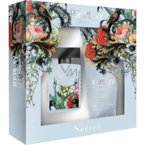 Replay Signature Secret Woman eau de toilette for women 30 ml + body lotion 100 ml, gift set