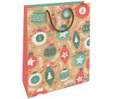 Nekupto Gift kraft bag 28 x 37 cm Christmas decorations 608 WKHL