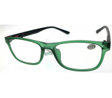 Berkeley Reading glasses +1.0 plastic green, black sides 1 piece MC2184