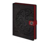 Epee Merch Game of Thrones Game of Thrones - Targaryen Block A5 21 x 15 cm premium lined