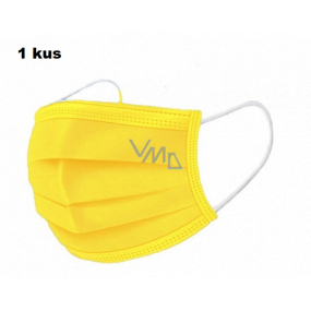 Shield 3-layer protective medical non-woven disposable, low breathing resistance 1 piece yellow