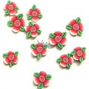 Professional Nail decorations flowers pink-green 132 1 pack