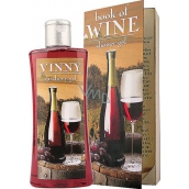Bohemia Gifts & Cosmetics Book of Wine vinný sprchový gel v krabičce 250 ml