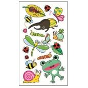 Tetovací obtisky barevné dětské broučci 15 x 8,5 cm