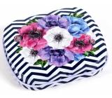 Albi Miniplechovka Květy černobílé pruhy 5 x 6 x 1,4 cm