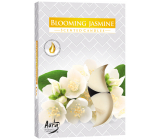 Bispol Aura Blooming Jasmine - Blooming jasmine scented tea candles 6 pieces