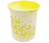 Porcelain aroma lamp with yellow bow ties 11 cm