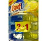 Bref Duo Aktiv Extra Clean & Fresh Lemon WC gel spare curtain 3 x 60 ml