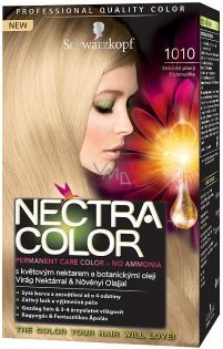 schwarzkopf color nectra 1010 silvery blond hair color - Nectra Color Schwarzkopf