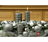 Lima Galaxy candle gray ball 80 mm 1 piece
