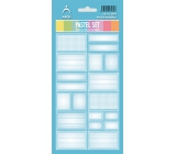 Arch Household Stickers Pastel Set Blue 12 labels