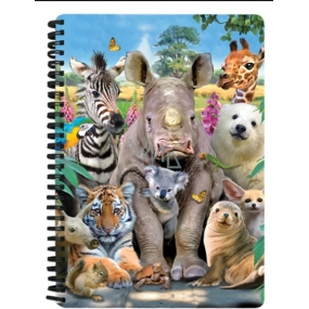 Prime3D notebook A5 - Exotic animals 14.8 x 21 cm