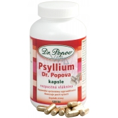 Dr. Popov Psyllium Soluble fiber, induces a feeling of satiety, supports the metabolism of the capsule 120 pieces 104 g