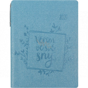 Albi Diary 2021 weekly with pen I believe in my dreams 14.5 x 11 x 1.1 cm