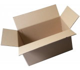 Cardboard box, three-layer, flap, length 60 cm, width 40 cm, height 43 cm, used, very strong