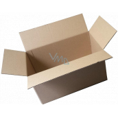 Cardboard box, three-layer, flap, length 60 cm, width 40 cm, height 43 cm, used, very strong