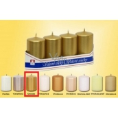 Lima Candle smooth metal gold cylinder 40 x 70 mm 4 pieces