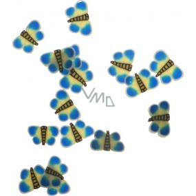 Professional Nail decorations butterflies blue-yellow 132 1 pack
