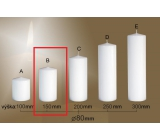 Lima Gastro smooth candle white cylinder 80 x 150 mm 1 piece