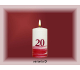 Lima Jubilee 20 years candle white decorated 50 x 100 mm 1 piece