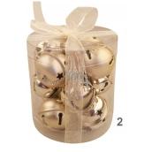 Rolničky zlaté 3 cm 12 kusů v krabičce