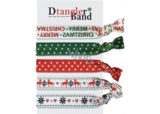 Dtangler Band Set Buble Merry Christmas hair bands 5 pieces