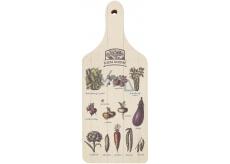 Bohemia Gifts & Cosmetics Decorative board Green kitchen with original print 28 x 12 cm