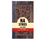 Bohemia Gifts & Cosmetics Milk, dark and chilli chocolate sprinkled on Stress Mr. Teacher handmade 80 g
