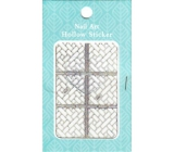 Nail Accessory Hollow Sticker nail templates multicolored bricks 1 sheet 129