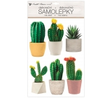 Room Decor Wall stickers plastic 3D cacti 29 x 49 cm