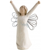 Willow Tree - Angel of Courage - Brings the spirit of victory, inspiration and courage Willow Tree Angel Figurine, Height 15 cm
